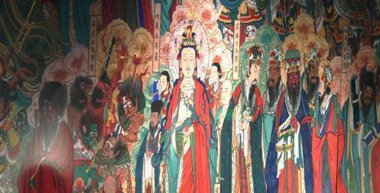 河北画家十年复原的毗卢寺壁画