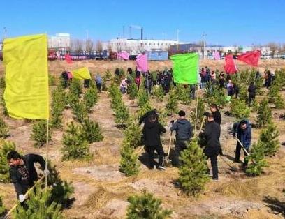 张北县义务植树活动启动
