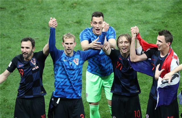加时赛胜英格兰,克罗地亚队晋级决赛