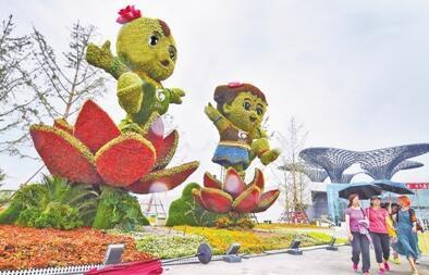 园博盛会花开湖城 河北首届园林博览会开幕侧记