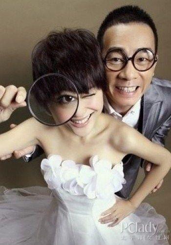 齐刘海新娘发型图片