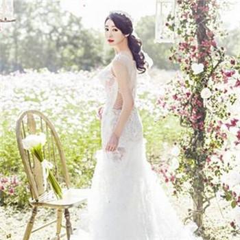 唯美韩式婚纱照发型 拍婚纱照做什么发型图片
