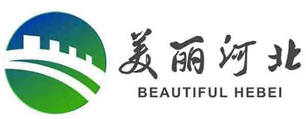 """民族复兴的两大标志-""""美丽河北""""logo释义,长城图案代表燕赵大地历史悠久,蓝天绿水代"""
