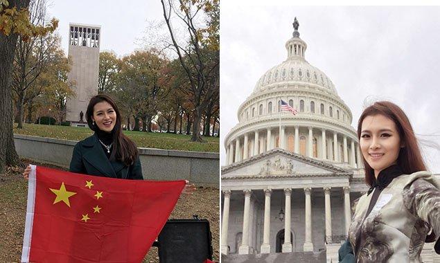 【燕女郎】实拍中国小姐穿旗袍亮相美国国会