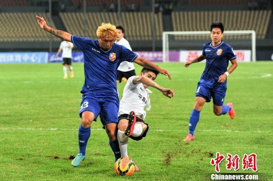 河北华夏幸福客场2:0战胜广西龙桂达