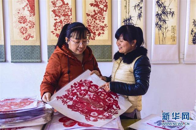 河北阜城:年俗剪纸红火迎新年