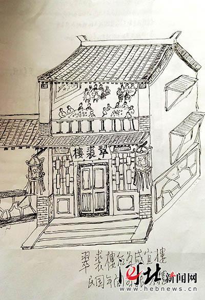 热河老街有哪些商铺 老人手绘承德旧景带你穿越时空