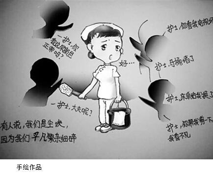 """霸州美女护士 手绘画讲述""""神秘手术室"""""""
