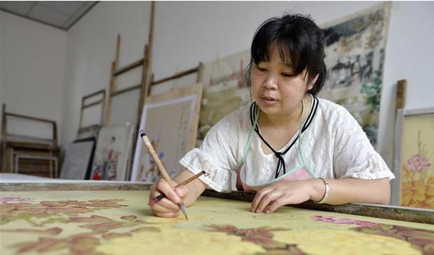 河北宁晋:工笔画绘就致富路