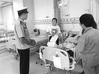 女童输液药物过敏休克 交警铁骑争分夺秒送医
