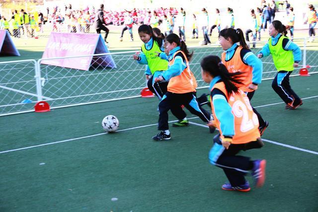 白塔岭小学承办追梦女孩足球节燃梦小学生