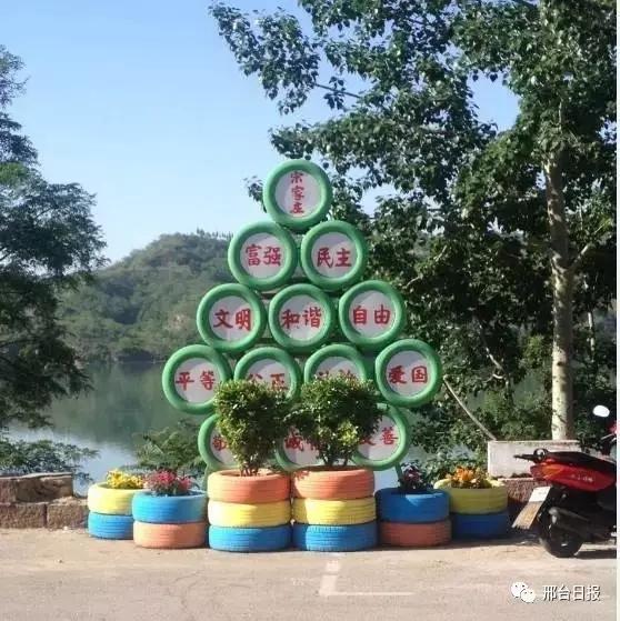 邢台县主干道景观建设紧张进行中