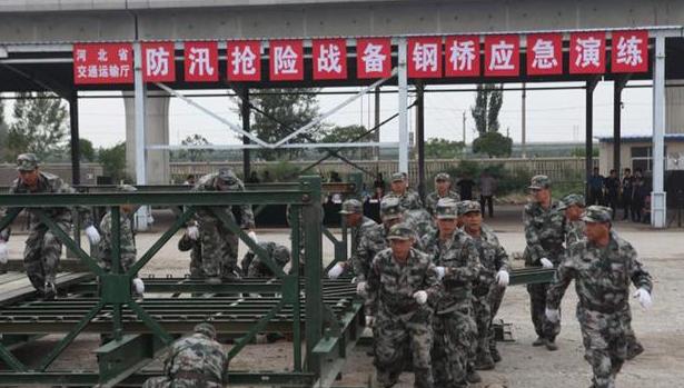 河北省普通干线公路防汛抢险演练在保定举行