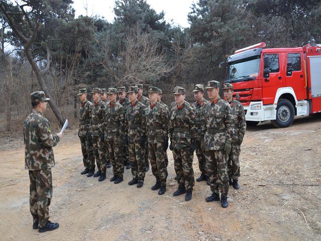 特勤一中队对联峰山公园进行熟悉演练