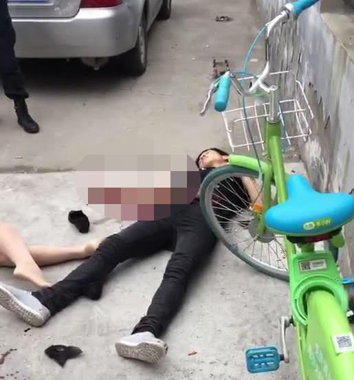 河北一地街头男子持刀伤人后自伤