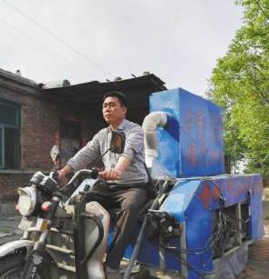 """河北一农民钻研6年发明""""电动清扫车""""获2项国家专利"""