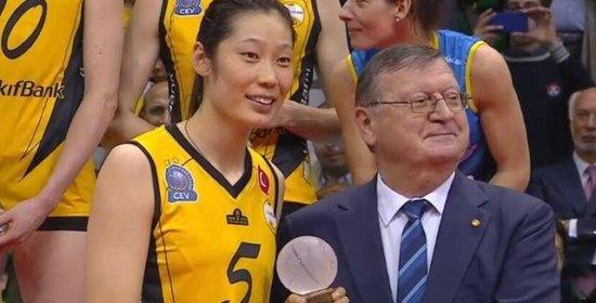 朱婷砍下22分获2017年女排欧冠MVP
