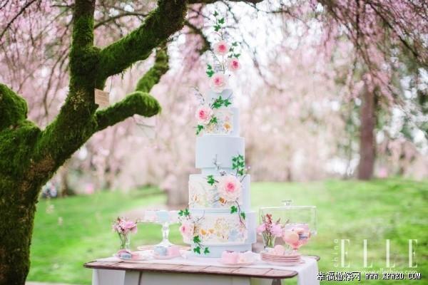 """""""花""""都开好了 花儿蛋糕荡漾婚礼"""