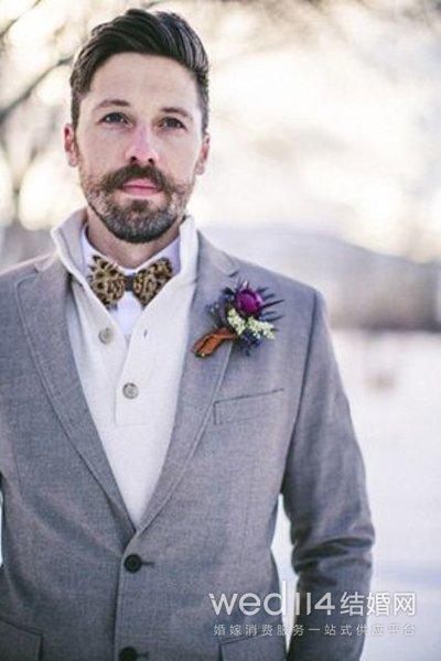 男士拍婚纱照发型 你就是最帅气的新郎图片