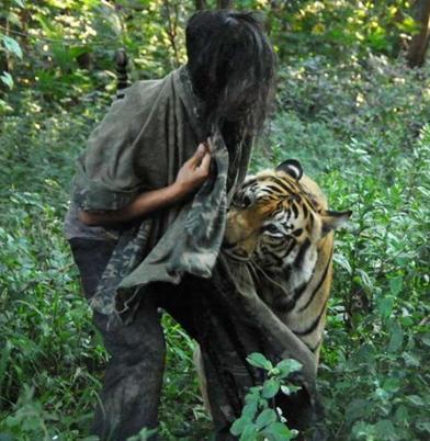 厉害了!一男子养老虎当宠物