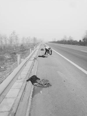 河北:高速路上绵延一公里都是钱 还有金首饰