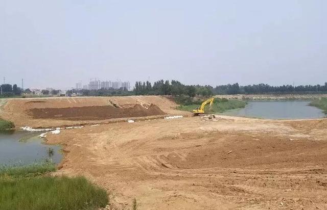 衡水市区大庆路跨滏阳河桥进场施工