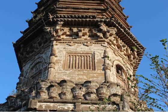 荆轲塔近景。 图片来源于网络
