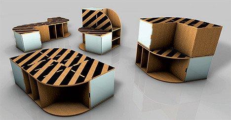 家居环保新概念 纸家具创意登场(图)