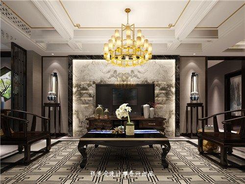 保利西山林语300平新中式风格案例 古典与现代完美结合