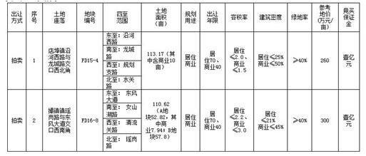 快讯:肥东FD15-4号、FD16-8号地块6月29日出