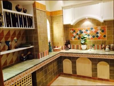砖砌橱柜厨房的另类装修法图片