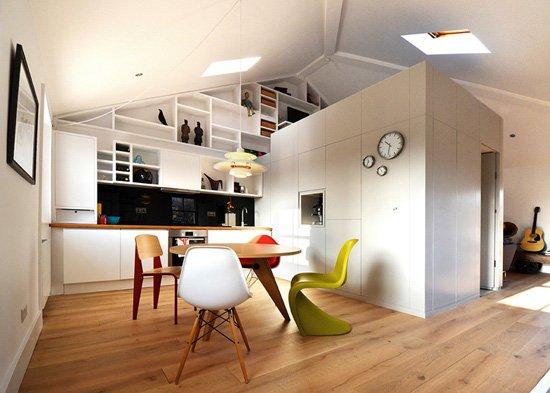 收纳超乎极限 23平创意单身loft设计(图)