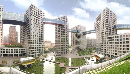(世界十大建筑奇迹·北京·当代mom∧·社区全景)图片