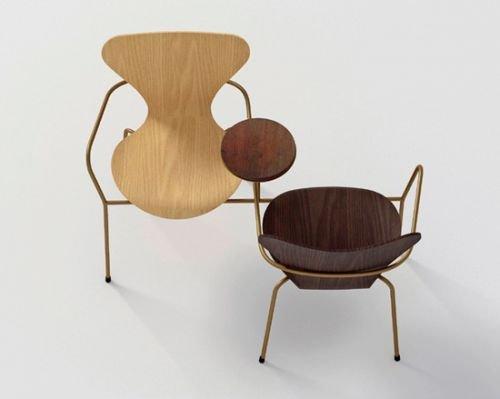 雅各布森系列智能诞生60周年众著名设计师重椅子锁车身广告设计图片