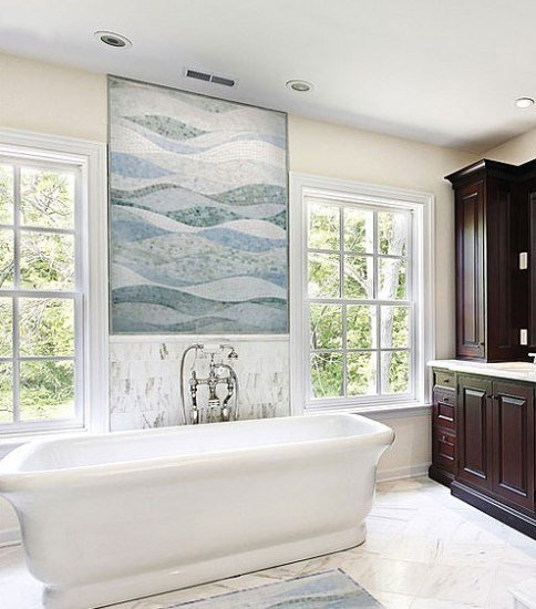 卫生间墙砖效果图 马赛克瓷砖打造多风格卫浴间