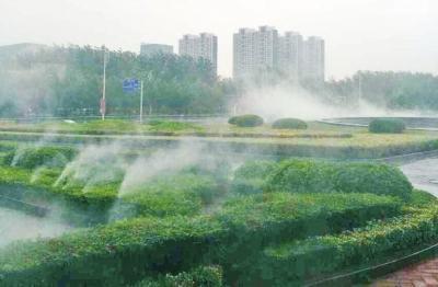 """郑州将推广""""雾森系统"""":超细水雾降尘除霾"""