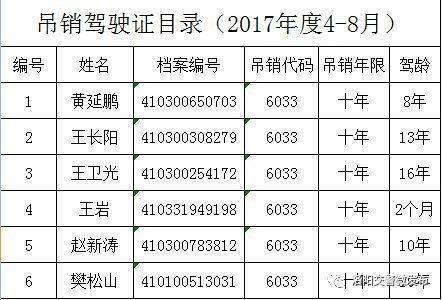 洛阳5个月60人被终身禁驾 514人被吊销驾驶证
