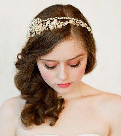 长发新娘带皇冠发型分享展示