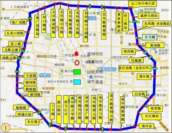 将设置封闭站台45对,快速公交在高架桥下通行,该方案已在郑州市城乡图片