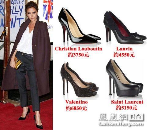 黑色细跟高跟鞋推荐-贝嫂出街必备细高跟 不穿它的女人没前途