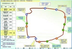 者为已列入城建计划的立交;图中表格为新的四环快速化规划.-郑州