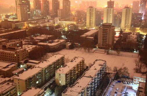 暖哭!零下十几度的风雪中 最美的风景在哪里?