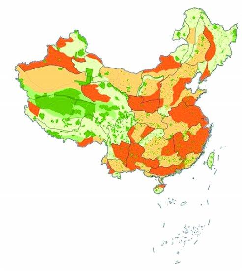 中国自然保护地覆盖比例图