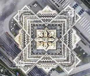 俯瞰国内大型城市的特色建筑体