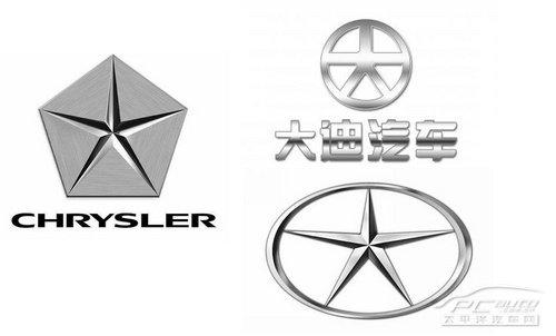 克莱斯勒曾于1957-1995年使用过著名的五角星式标志.国产高清图片