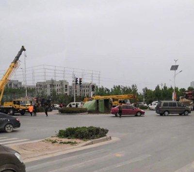 郑州今早发生事故 交警已到达现场