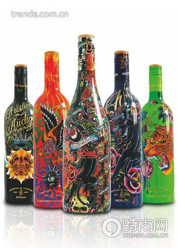 酒瓶创意画画图片