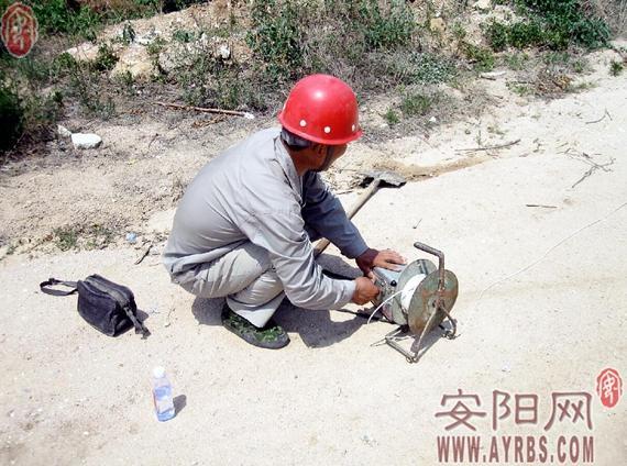 安阳工地惊现一枚航空炸弹 重60多公斤长近1米