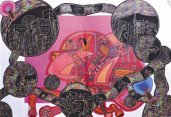 三门峡大奖画学生百年愿景画工不凡荣获小学城市班训的图片