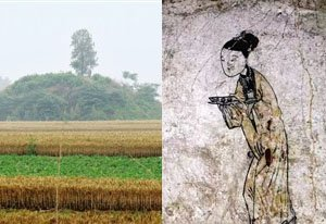 中牟一村民挖土发现一座古墓 室内壁画色彩鲜艳